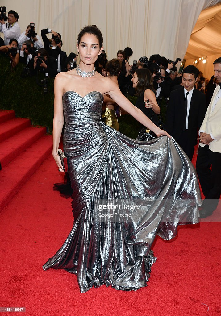 Lily Aldridge attends the 'Charles James: Beyond Fashion' Costume Institute Gala at the Metropolitan Museum of Art on May 5, 2014 in New York City.