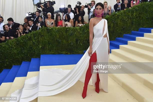 Lily Aldridge attends the 'Rei Kawakubo/Comme des Garcons Art Of The InBetween' Costume Institute Gala at Metropolitan Museum of Art on May 1 2017 in...