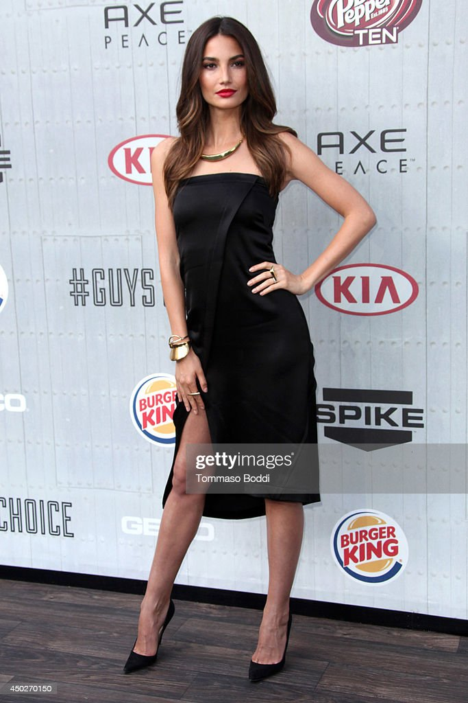 <a gi-track='captionPersonalityLinkClicked' href=/galleries/search?phrase=Lily+Aldridge&family=editorial&specificpeople=2110490 ng-click='$event.stopPropagation()'>Lily Aldridge</a> attends the Spike TV's 'Guys Choice' Awards held at the Sony Studios on June 7, 2014 in Los Angeles, California.