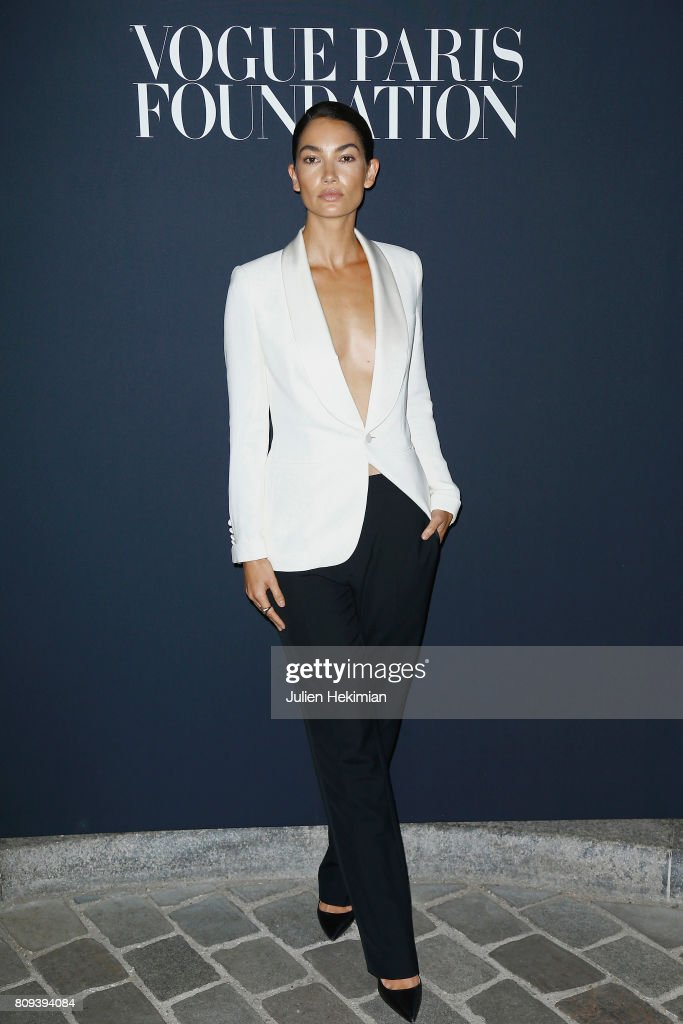 Lily Aldridge attends the Vogue Foundation Dinner during Paris Fashion Week as part of Haute Couture Fall/Winter 2017-2018 at Musee Galliera on July 4, 2017 in Paris, France.