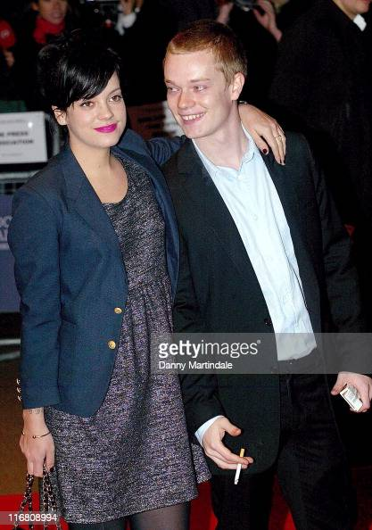Lily Allen and her brother Alfie Allen attends the Brick Lane Gala Screening at West End Odeon on October 26 2007 in London