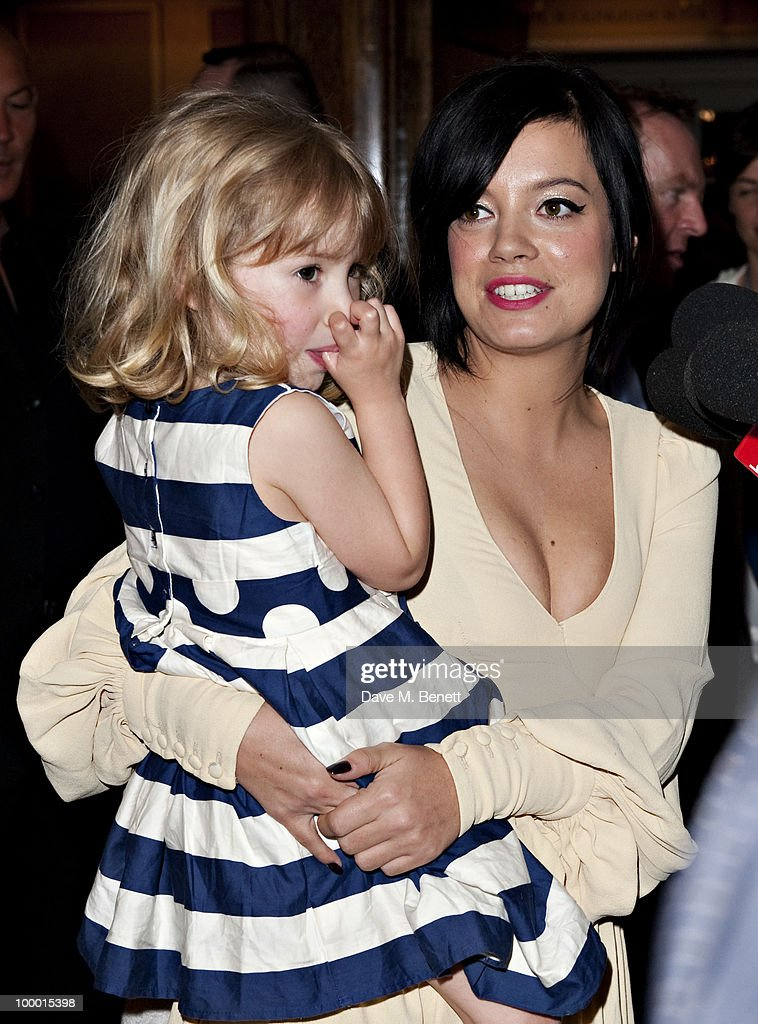 Lily Allen and her sister Teddy Rose Allen arrive at the 55th Ivor Novello Awards held at Grosvenor House Hotel on May 20, 2010 London, England.