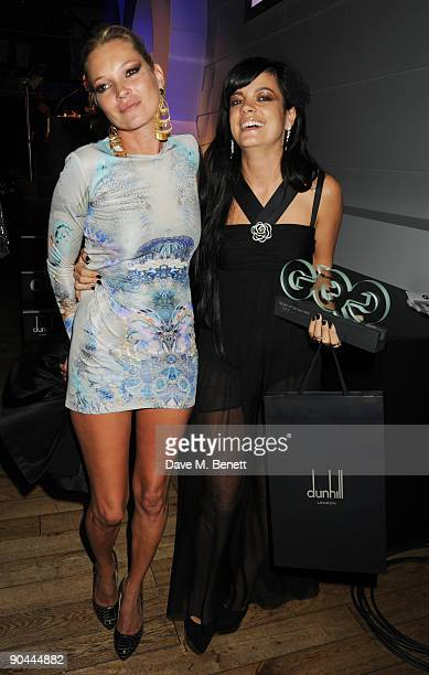 Lily Allen and Kate Moss attend the 2009 GQ Men Of The Year Awards at The Royal Opera House on September 8 2009 in London England