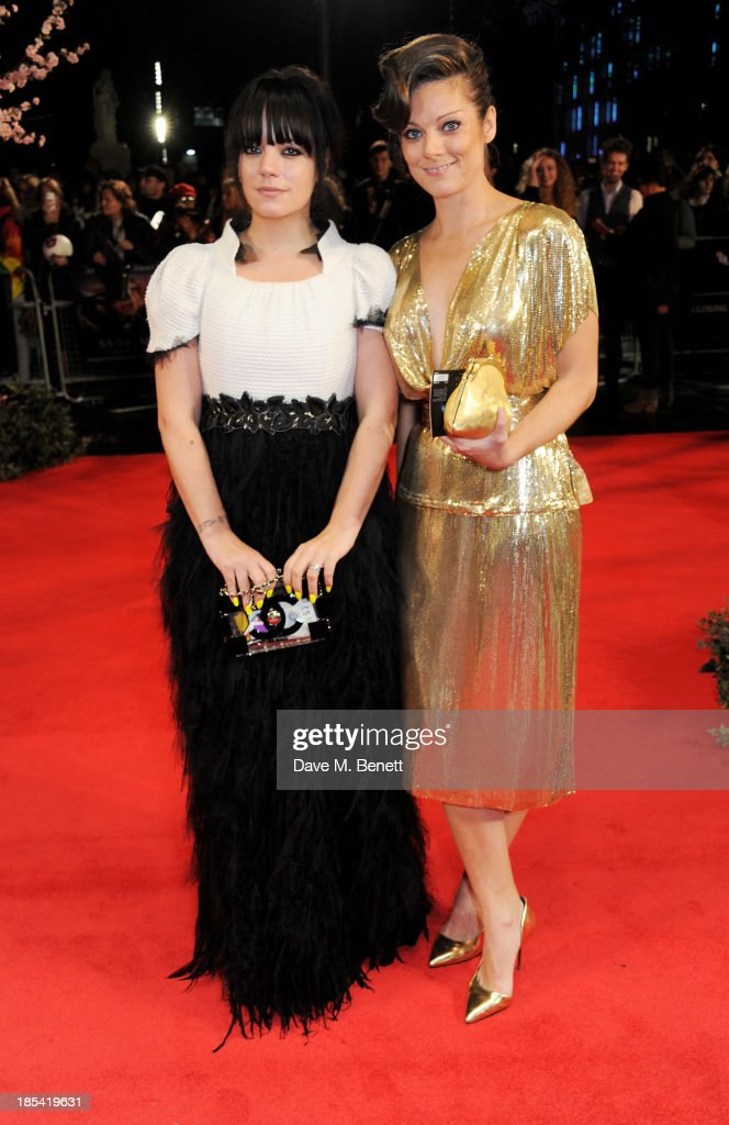 <a gi-track='captionPersonalityLinkClicked' href=/galleries/search?phrase=Lily+Allen&family=editorial&specificpeople=724899 ng-click='$event.stopPropagation()'>Lily Allen</a> (L) and sister <a gi-track='captionPersonalityLinkClicked' href=/galleries/search?phrase=Sarah+Owen&family=editorial&specificpeople=4433526 ng-click='$event.stopPropagation()'>Sarah Owen</a> attend the Closing Night Gala European Premiere of 'Saving Mr Banks' during the 57th BFI London Film Festival at Odeon Leicester Square on October 20, 2013 in London, England.