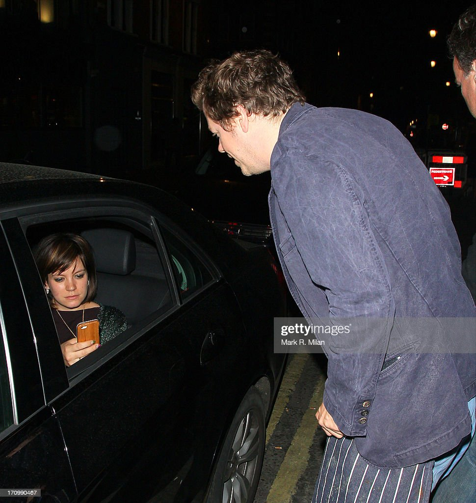 Lily Allen and Tom Parker Bowles at the Groucho club on June 20, 2013 in London, England.