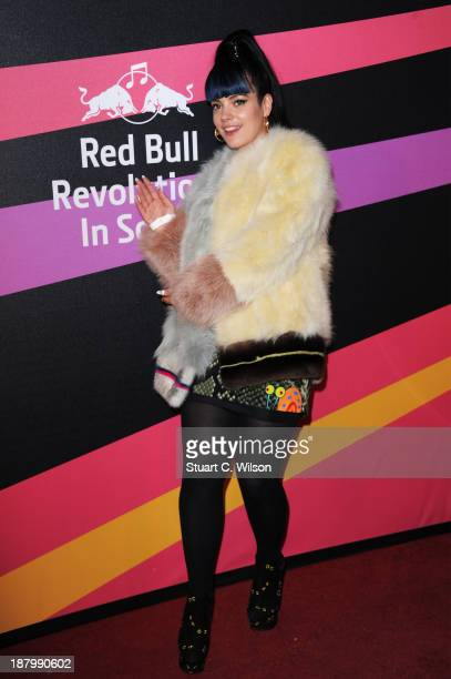 Lily Allen arrives at Red Bull Revolutions in Sound on the EDF Energy London Eye a celebration of UK club culture with 30 of the most legendary club...