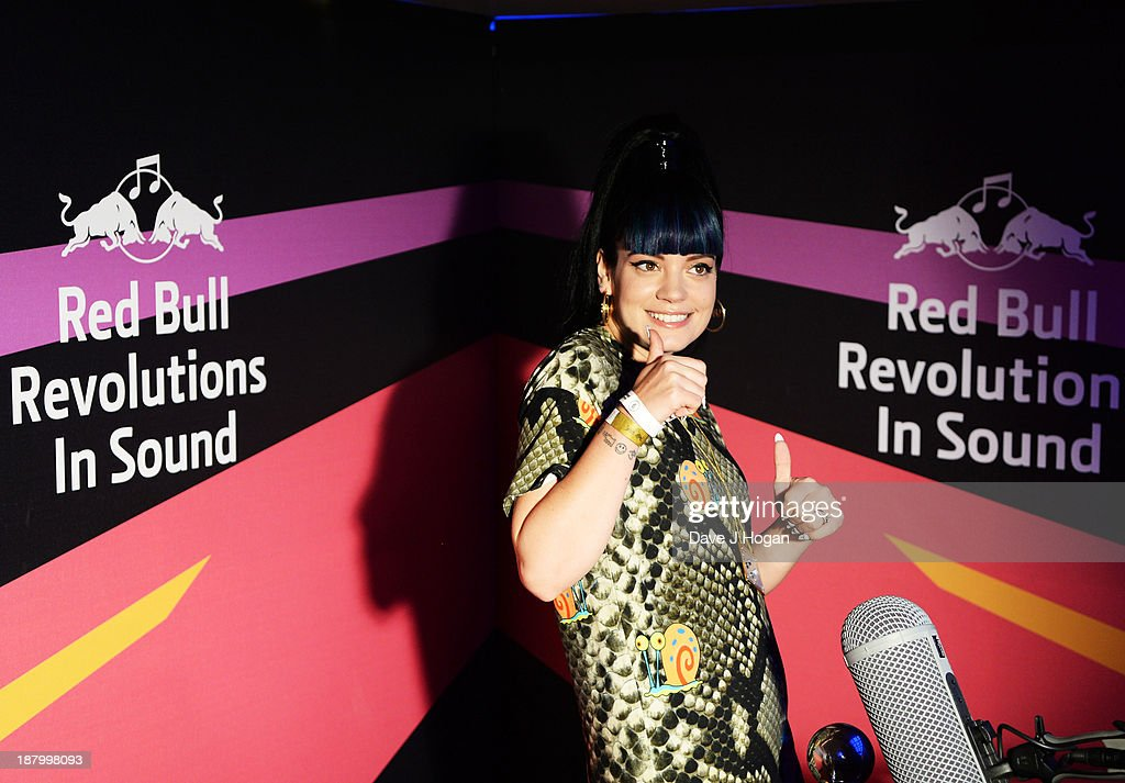 <a gi-track='captionPersonalityLinkClicked' href=/galleries/search?phrase=Lily+Allen&family=editorial&specificpeople=724899 ng-click='$event.stopPropagation()'>Lily Allen</a> arrives at Red Bull Revolutions in Sound on the EDF Energy London Eye, a celebration of UK club culture with 30 of the most legendary club nights in 30 capsules and streamed live on www.revolutionsinsound.com on November 14, 2013 in London, England.