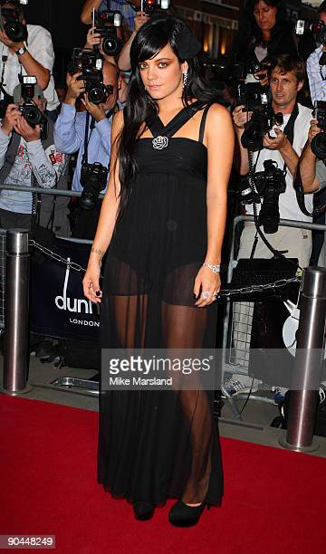 Lily Allen arrives for the 2009 GQ Men Of The Year Awards at The Royal Opera House on September 8 2009 in London England