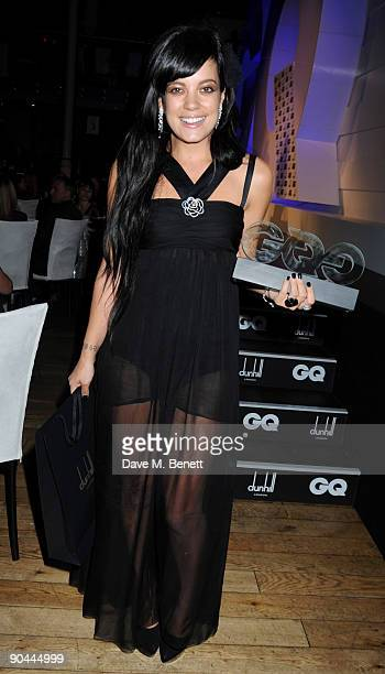 Lily Allen at the 2009 GQ Men Of The Year Awards at The Royal Opera House on September 8 2009 in London England