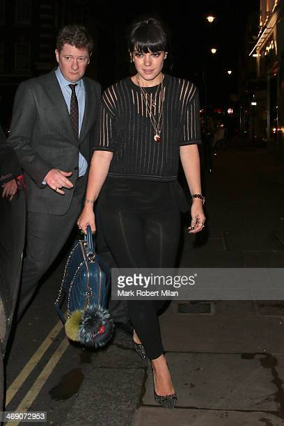 Lily Allen at the Groucho club on February 12 2014 in London England
