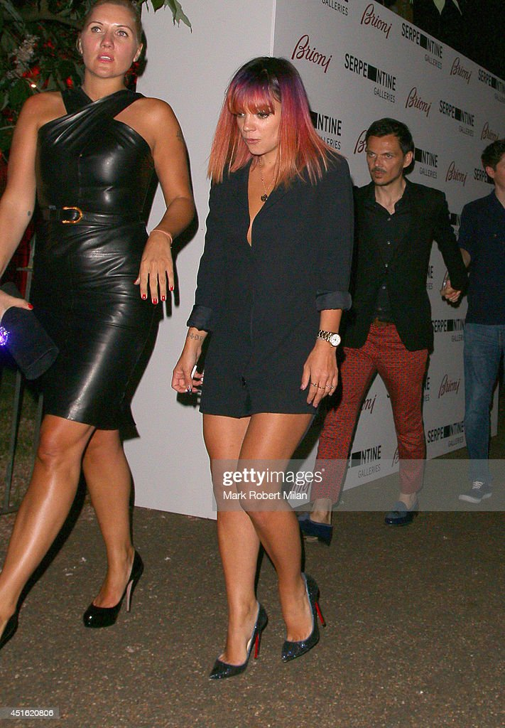 Lily Allen at the Serpentine Summer party on July 1, 2014 in London, England.