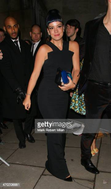 Lily Allen attending the Elle Style Awards ceremony at One Embankment on February 18 2014 in London England