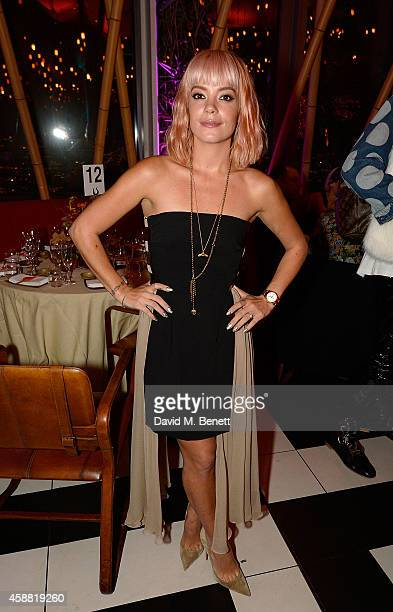 Lily Allen attends as Sushisamba celebrates its second anniversary with a performance by Lily Allen and a VIP party at Sushi Samba on November 11...