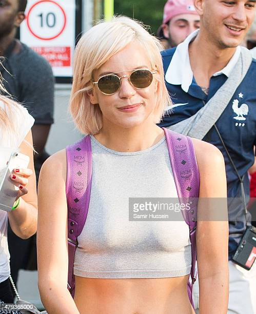 Lily Allen attends day 1 of the New Look Wireless Festival at Finsbury Park on July 3 2015 in London England