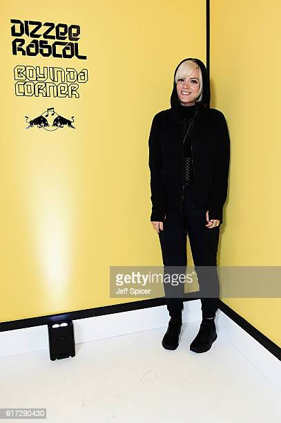 Lily Allen attends Dizzee Rascal Boy In Da Corner Live at Copper Box Arena as part of the Red Bull Music Academy UK Tour on October 22 2016 in London...