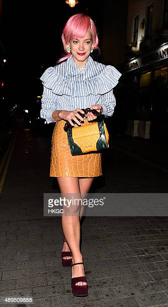 Lily Allen attends Love Magazine's Party at Lulu's Member's Club on September 21 2015 in London England