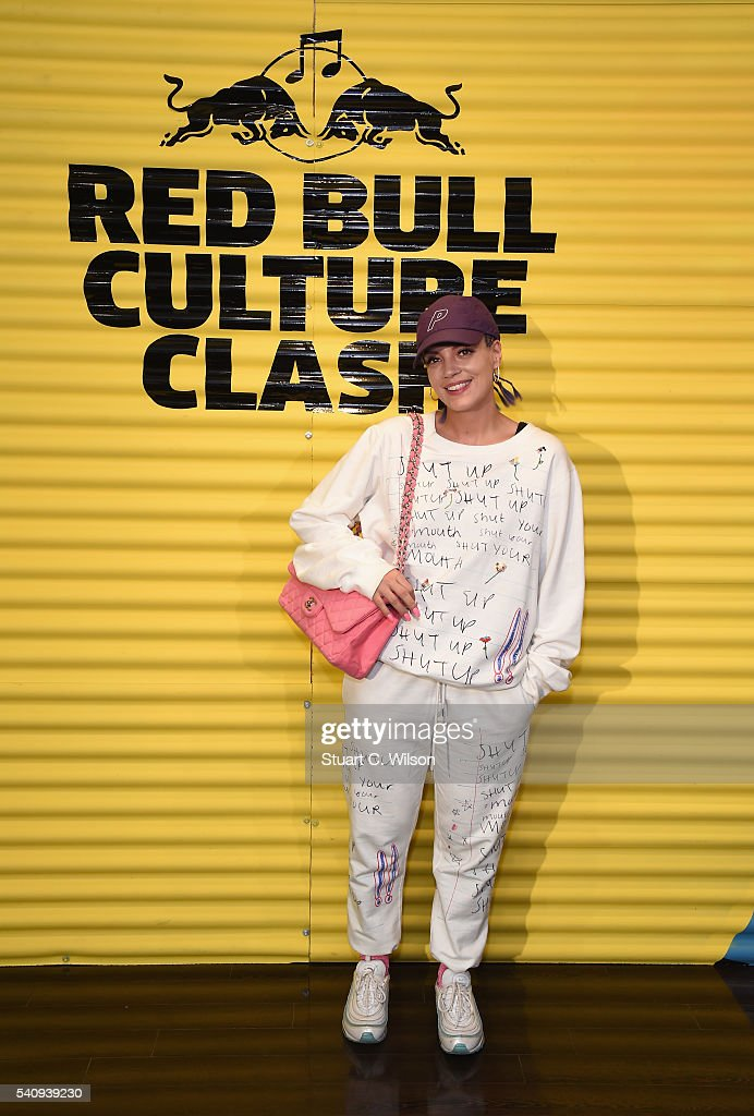 Lily Allen attends Red Bull Culture Clash at the O2 Arena on June 17, 2016 in London, England.