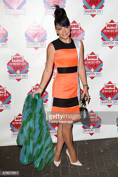 Lily Allen attends the annual NME Awards at Brixton Academy on February 26 2014 in London England