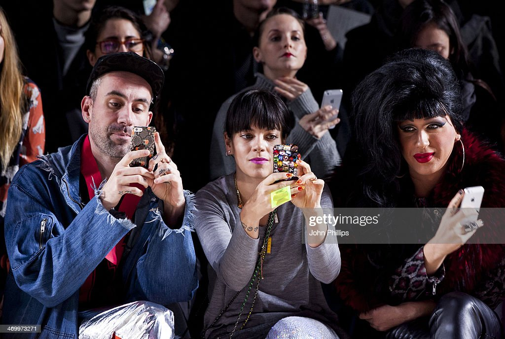 <a gi-track='captionPersonalityLinkClicked' href=/galleries/search?phrase=Lily+Allen&family=editorial&specificpeople=724899 ng-click='$event.stopPropagation()'>Lily Allen</a> attends the Ashish show at London Fashion Week AW14 at Tate Modern on February 17, 2014 in London, England.