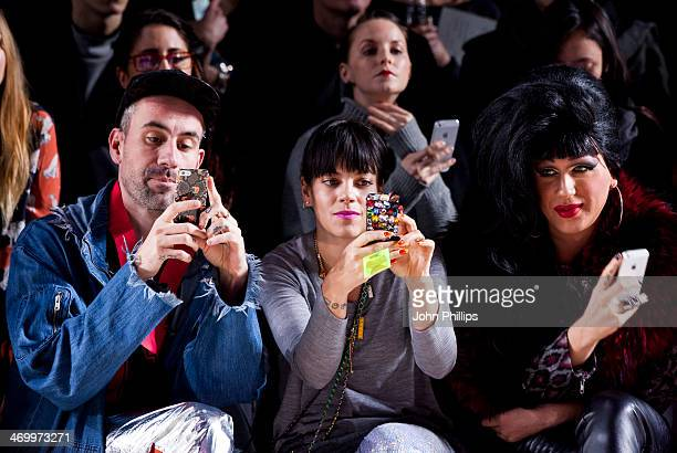 Lily Allen attends the Ashish show at London Fashion Week AW14 at Tate Modern on February 17 2014 in London England