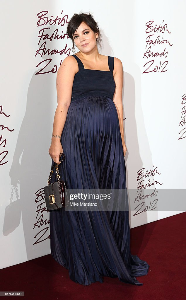 Lily Allen attends the British Fashion Awards 2012 at The Savoy Hotel on November 27, 2012 in London, England.