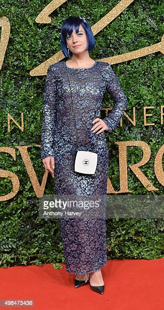 Lily Allen attends the British Fashion Awards 2015 at London Coliseum on November 23 2015 in London England