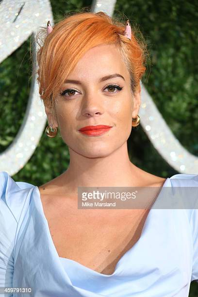 Lily Allen attends the British Fashion Awards at London Coliseum on December 1 2014 in London England