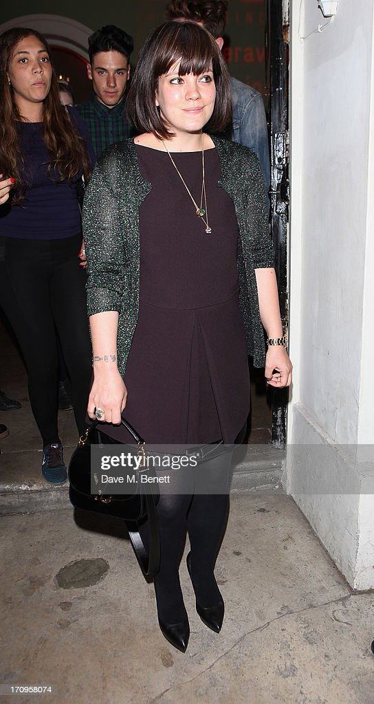 <a gi-track='captionPersonalityLinkClicked' href=/galleries/search?phrase=Lily+Allen&family=editorial&specificpeople=724899 ng-click='$event.stopPropagation()'>Lily Allen</a> attends the Carrera Ignition Night at The House of St Barnabas on June 20, 2013 in London, England.