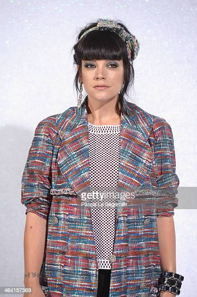 Lily Allen attends the Chanel show as part of Paris Fashion Week Haute Couture Spring/Summer 2014 on January 21 2014 in Paris France