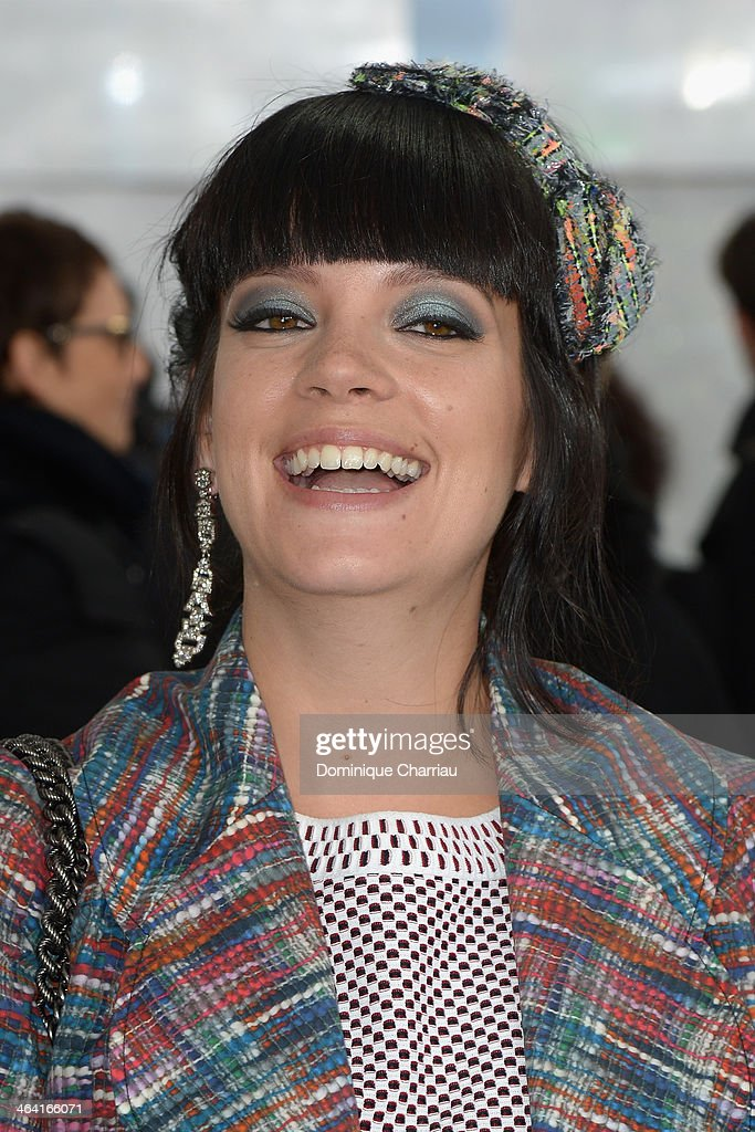 <a gi-track='captionPersonalityLinkClicked' href=/galleries/search?phrase=Lily+Allen&family=editorial&specificpeople=724899 ng-click='$event.stopPropagation()'>Lily Allen</a> attends the Chanel show as part of Paris Fashion Week Haute Couture Spring/Summer 2014 on January 21, 2014 in Paris, France.