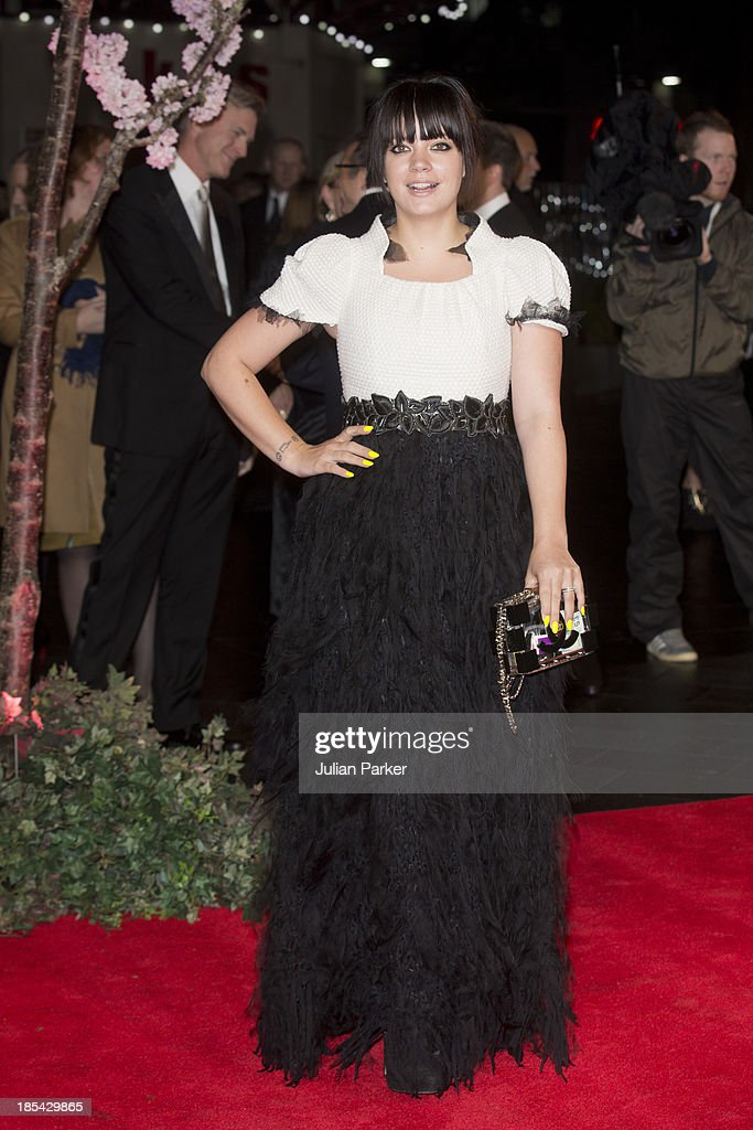 Lily Allen attends the Closing Night Gala European Premiere of 'Saving Mr Banks' during the 57th BFI London Film Festival at Odeon Leicester Square on October 20, 2013 in London, England.