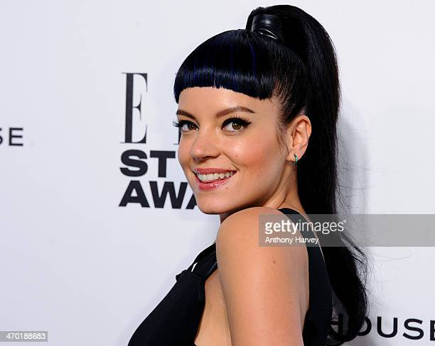 Lily Allen attends the Elle Style Awards 2014 at one Embankment on February 18 2014 in London England