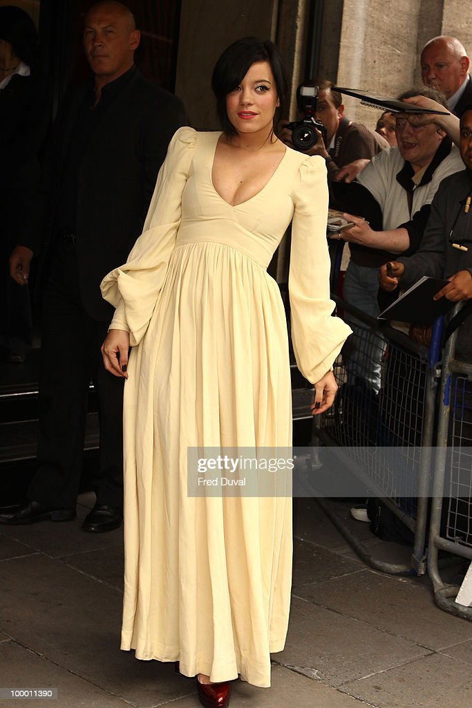 Lily Allen attends the Ivor Novello Awards at Grosvenor House, on May 20, 2010 in London, England.
