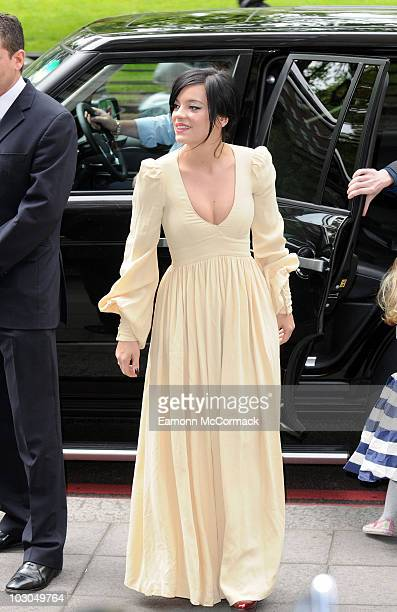 Lily Allen attends the Ivor Novello Awards at Grosvenor House on May 20 2010 in London England