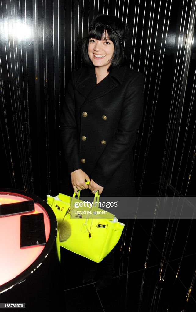 <a gi-track='captionPersonalityLinkClicked' href=/galleries/search?phrase=Lily+Allen&family=editorial&specificpeople=724899 ng-click='$event.stopPropagation()'>Lily Allen</a> attends the launch of The Vinyl Collection curated by Annie Mac and the AMP 2013 album at W London - Leicester Square on October 9, 2013 in London, England.