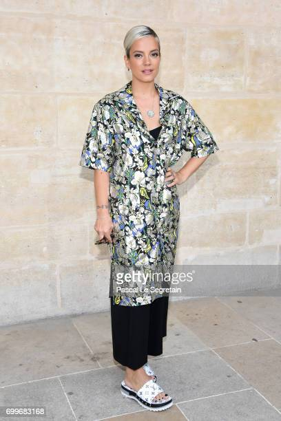 Lily Allen attends the Louis Vuitton Menswear Spring/Summer 2018 show as part of Paris Fashion Week on June 22 2017 in Paris France
