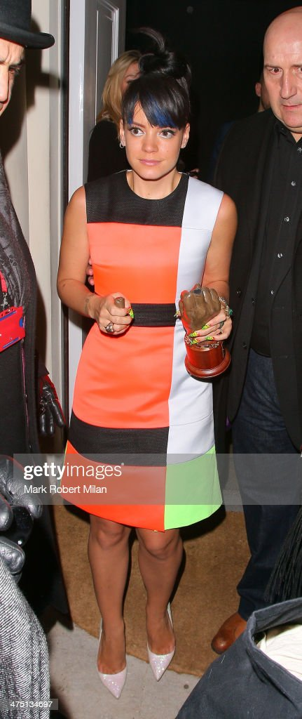 <a gi-track='captionPersonalityLinkClicked' href=/galleries/search?phrase=Lily+Allen&family=editorial&specificpeople=724899 ng-click='$event.stopPropagation()'>Lily Allen</a> attends the NME Awards after party on February 26, 2014 in London, England.