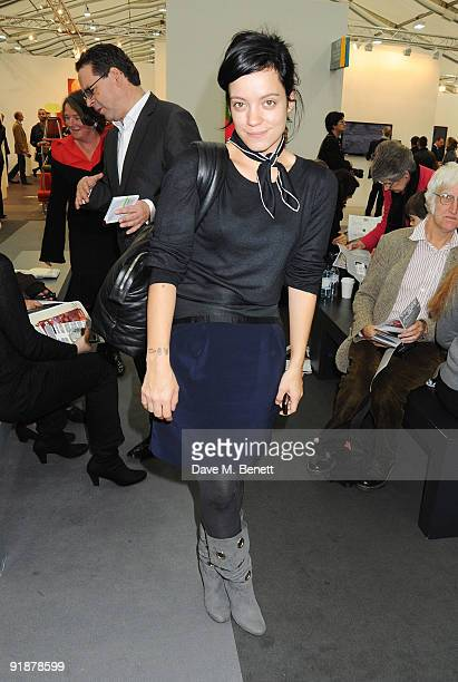 Lily Allen attends the private view of the Frieze Art Fair at Regent's Park on October 14 2009 in London England
