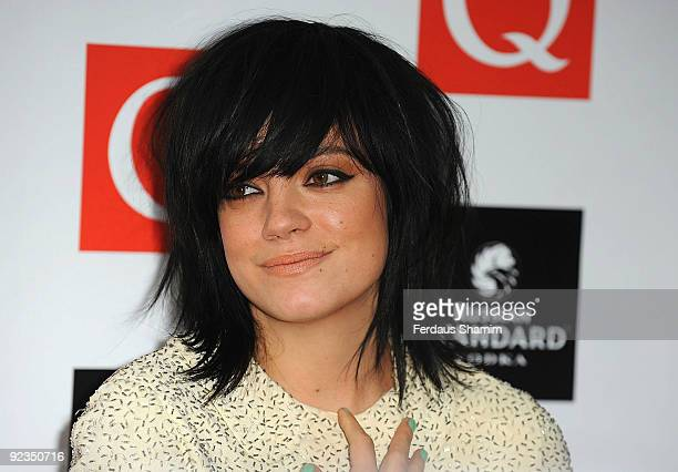 Lily Allen attends the Q Awards at The Grosvenor House Hotel on October 26 2009 in London England
