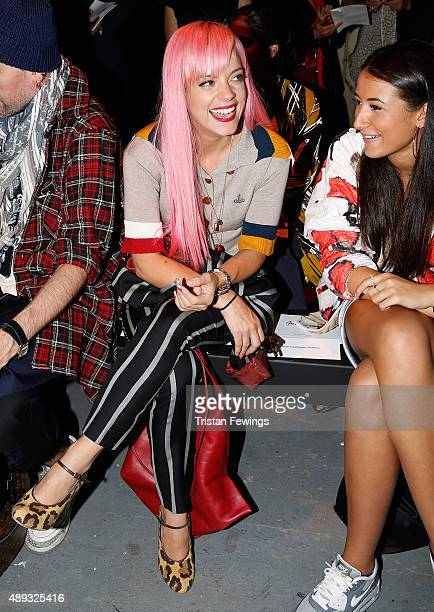 Lily Allen attends the Vivienne Westwood Red Label show during London Fashion Week Spring/Summer 2016 on September 20 2015 in London England