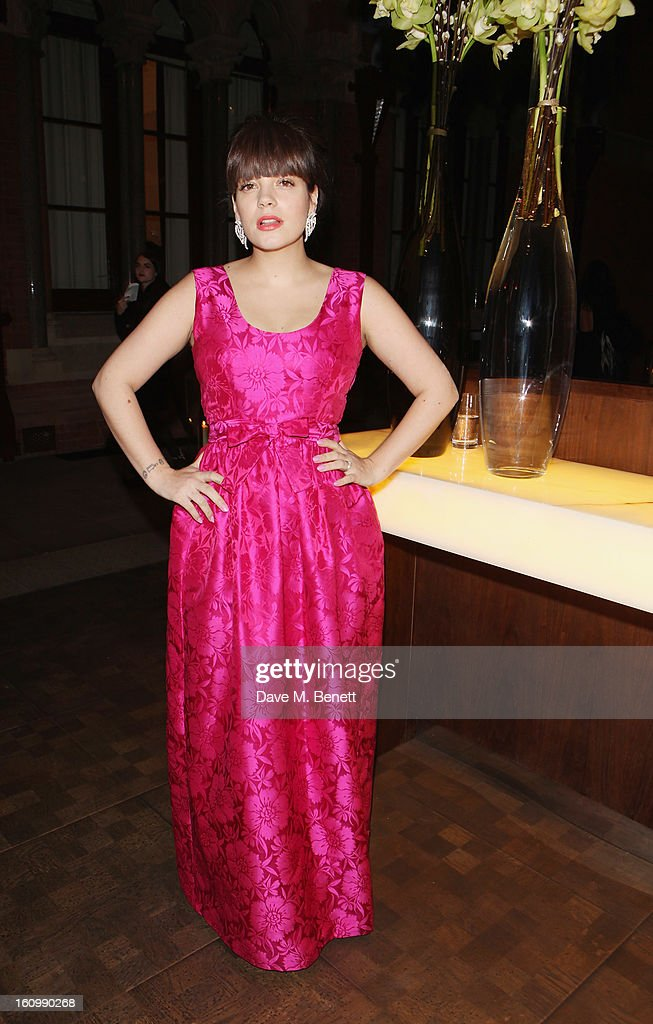 <a gi-track='captionPersonalityLinkClicked' href=/galleries/search?phrase=Lily+Allen&family=editorial&specificpeople=724899 ng-click='$event.stopPropagation()'>Lily Allen</a> attends the WilliamVintage Dinner hosted by Gillian Anderson and William Banks-Blaney in association with Adler at St Pancras Renaissance Hotel on February 8, 2013 in London, England.