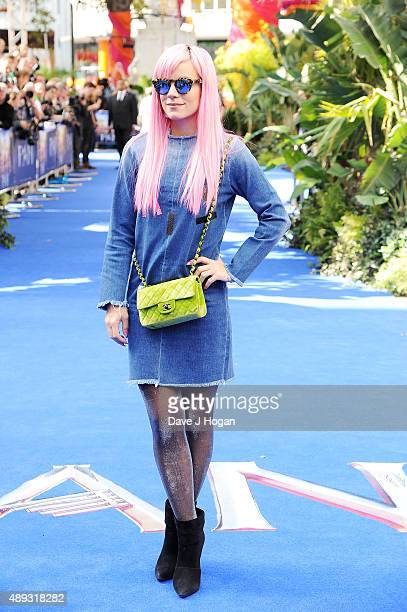 Lily Allen attends the World Premiere of 'Pan' at Odeon Leicester Square on September 20 2015 in London England