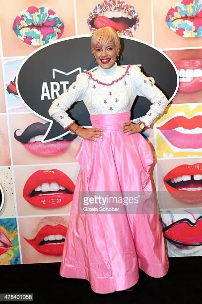 Lily Allen during the presentation of 'Art of the Lip' by MAC Cosmetics at Haus der Kunst on June 24 2015 in Munich Germany