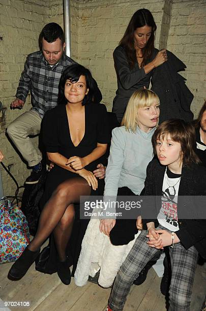 James Small: London Fashion Week aw 2010 Front Row