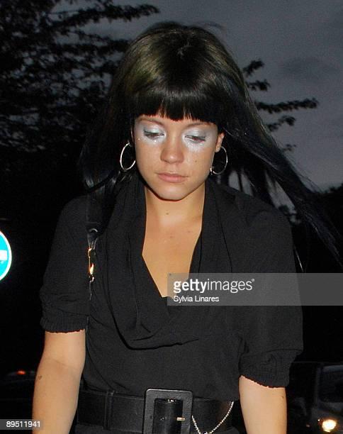 Lily Allen is seen on July 29 2009 in London England