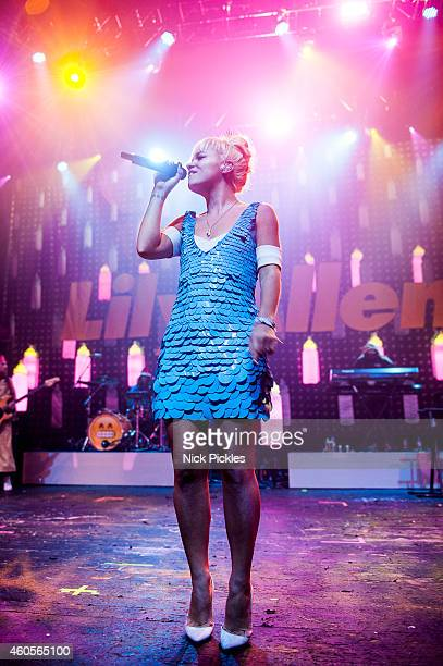 Lily Allen performs at 02 Academy Brixton on December 12 2014 in London England