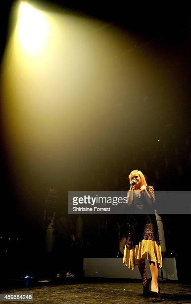 Lily Allen performs at 02 Apollo Manchester on November 25 2014 in Manchester England