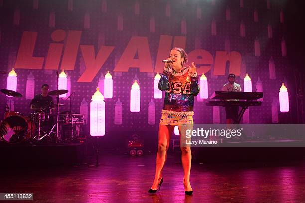 Lily Allen performs at Fillmore Miami Beach on September 9 2014 in Miami Beach Florida