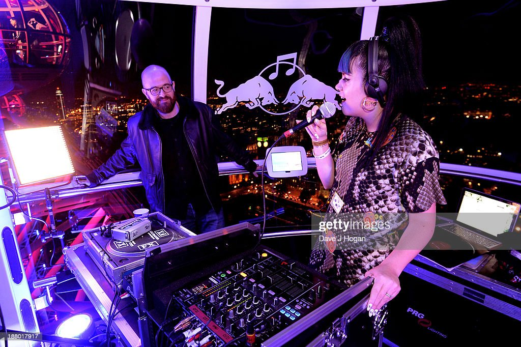 <a gi-track='captionPersonalityLinkClicked' href=/galleries/search?phrase=Lily+Allen&family=editorial&specificpeople=724899 ng-click='$event.stopPropagation()'>Lily Allen</a> performs at Red Bull Revolutions in Sound on the EDF Energy London Eye, a celebration of UK club culture with 30 of the most legendary club nights in 30 capsules and streamed live on www.revolutionsinsound.com on November 14, 2013 in London, England.