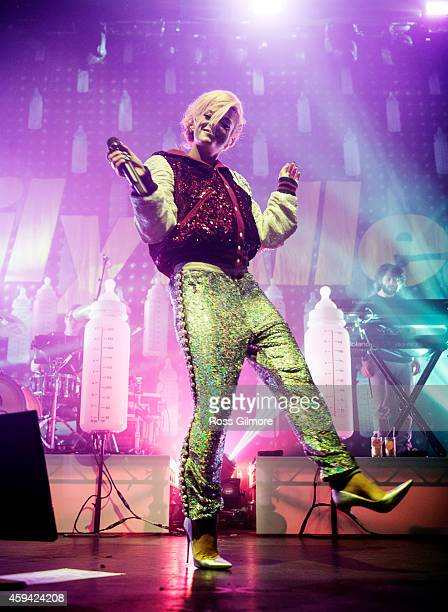 Lily Allen performs on stage at O2 Academy on November 22 2014 in Glasgow United Kingdom
